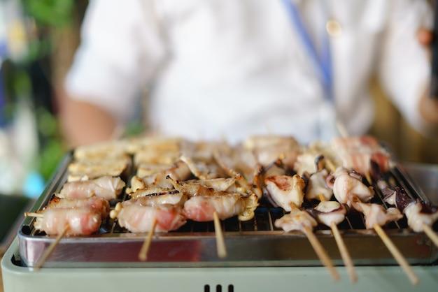Barbecue koken of mala