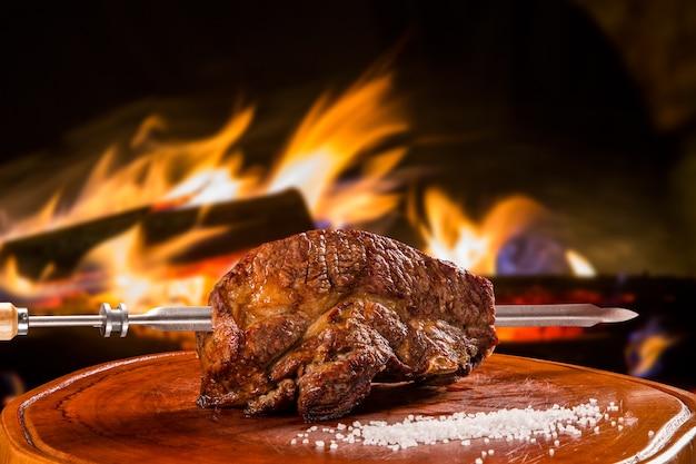 Barbecue ribben, traditionele braziliaanse barbecue.