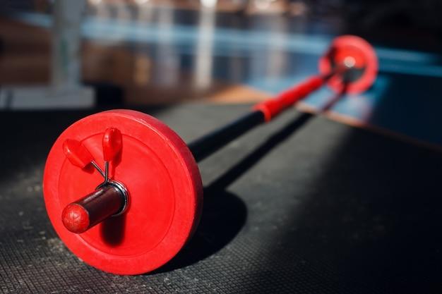Barbell in de sportschool