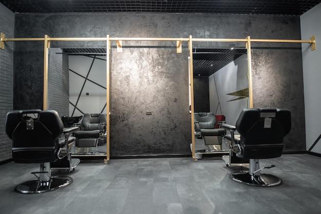 Barber shop stoel. stijlvolle vintage kappersstoel. barbershop fauteuil.