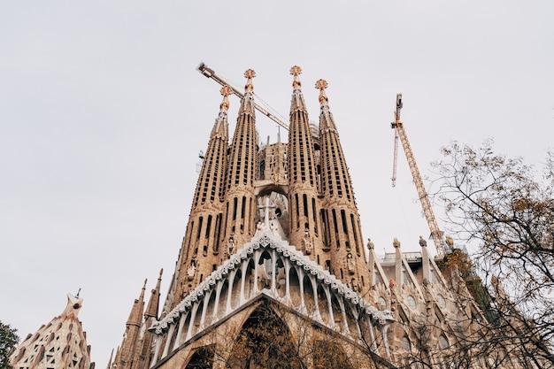 Barcelona spanje december gevel van passies sagrada familia in barcelona