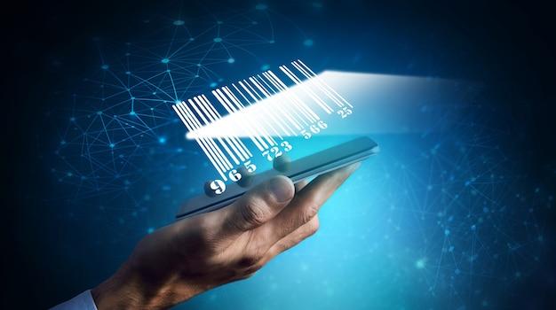 Barcode scannen via de telefoon op blauw