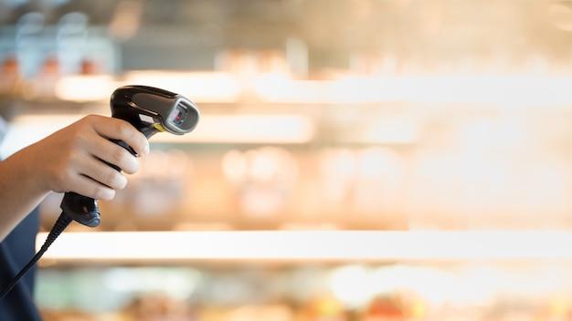 Barcodescanner in de hand
