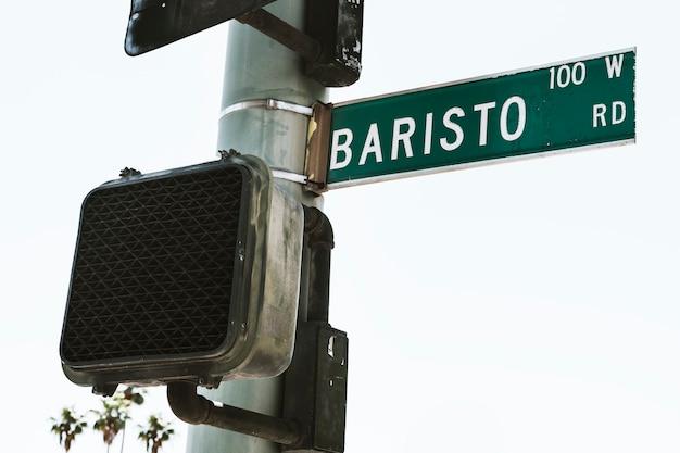 Baristo weg groen straatnaambord