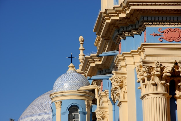 Barok kerkdetail van la viña van salta, argentinië