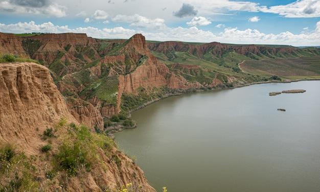Barrancas de burujon of grand canyon in guadamur