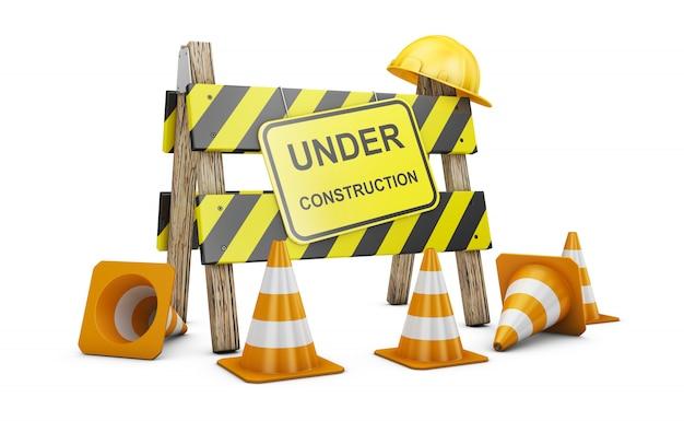 Barrière in aanbouw
