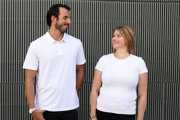 Basic witte tops heren- en damesmodekleding