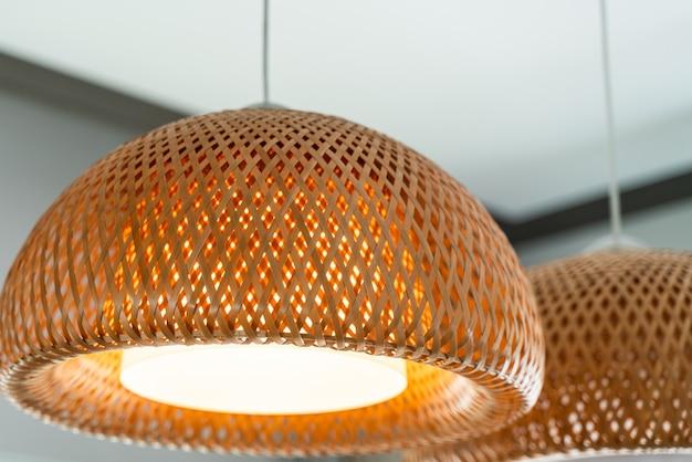 Basket bamboo light lamp hanging
