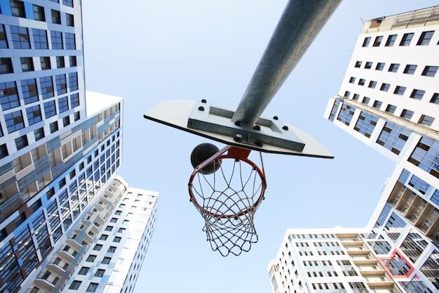 Basketbal hoepel achtergrond