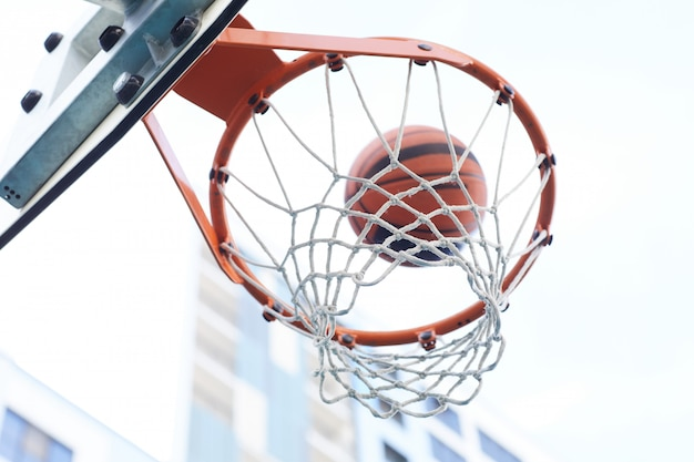 Basketbal hoepel close-up