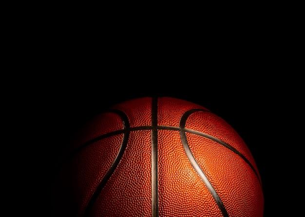 Basketbal op achtergrond