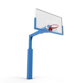 Basketbalrugplank op wit wordt geïsoleerd dat. 3d-afbeelding.
