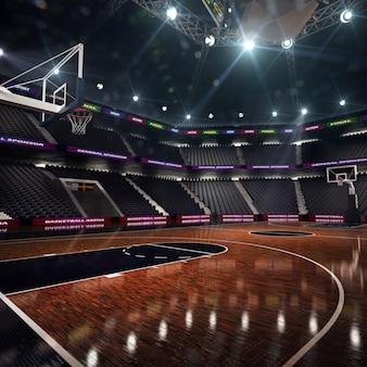 Basketbalveld. sportarena. 3d render