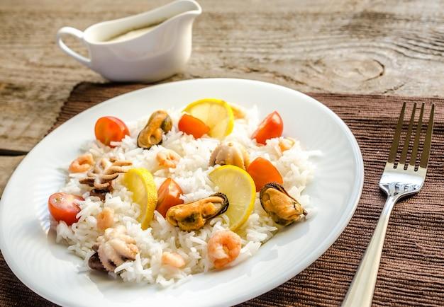 Basmati rijst met zeevruchten