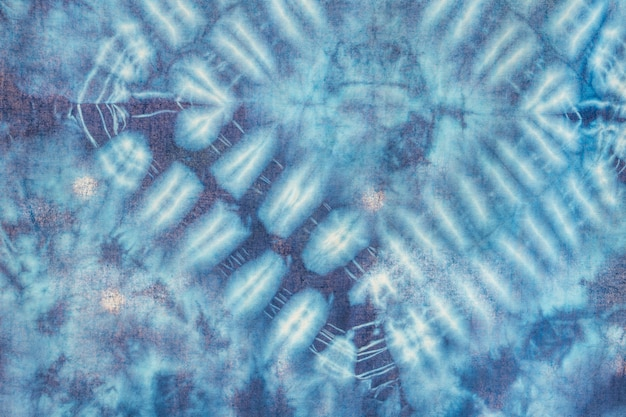 Batik blauwe kleurstoftextuur