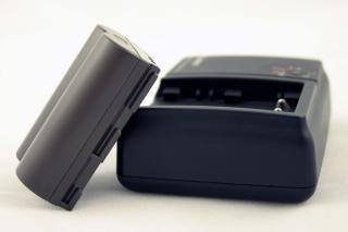 Batterij en lader, camera