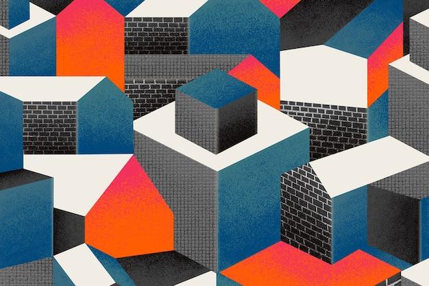 Bauhaus geïnspireerd patroon achtergrond afbeelding