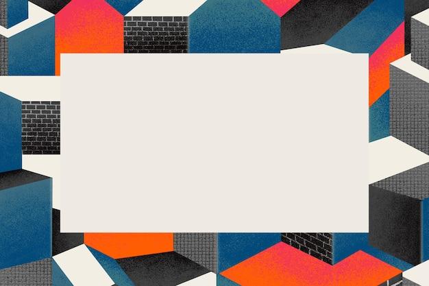 Bauhaus-geïnspireerde frameillustratie in kleurrijke toon
