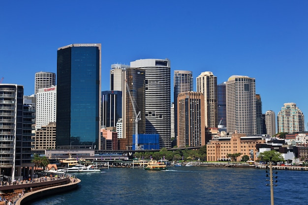 Bay harbor in het hart van sydney, australië