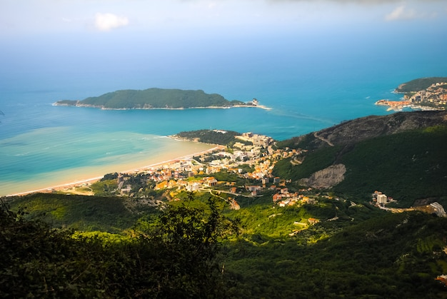 Bay view vanaf het fort in kotor