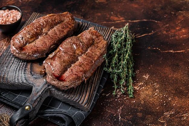 Bbq geroosterde schouderblad gesneden of australische wagyu oesterblad biefstuk beef