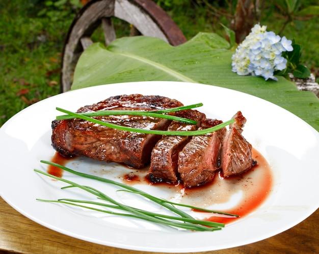 Bbq steak mesat eten