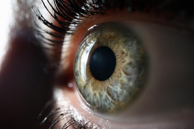 Beaty vrouw oog close-up supermacro