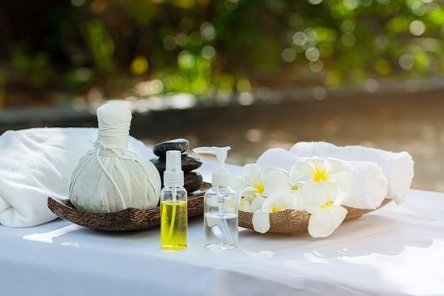 Beautiful spa samenstelling op massagelijst.