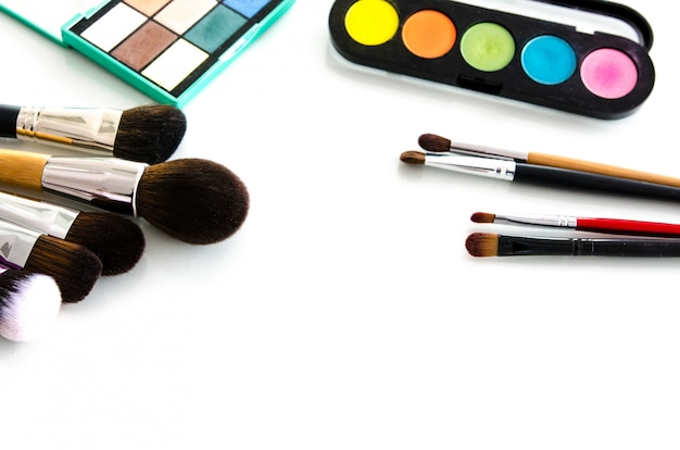 Beauty tools paletten collectie. bovenaanzicht