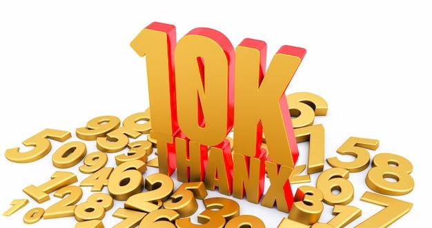Bedankt 10.000 volgers. bedankt volgers felicitatie post