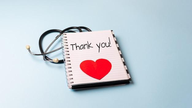 Bedankt aan artsen, verpleegsters, medische hulpverleners