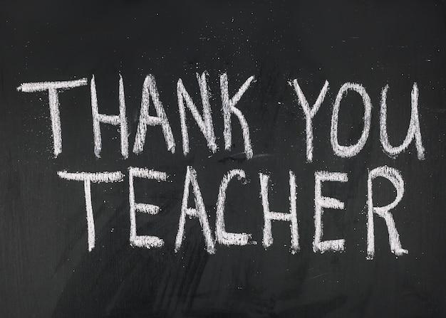 Bedankt leraar inscriptie