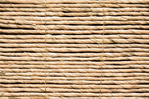 Bedek dakachtergrond, hooi of droge grasachtergrond, met stro bedek daktextuur. hut textuur.