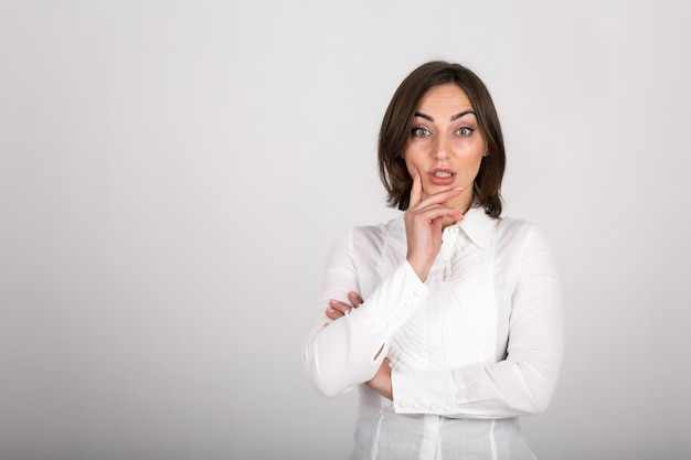 Bedrijfs geïsoleerde vrouw