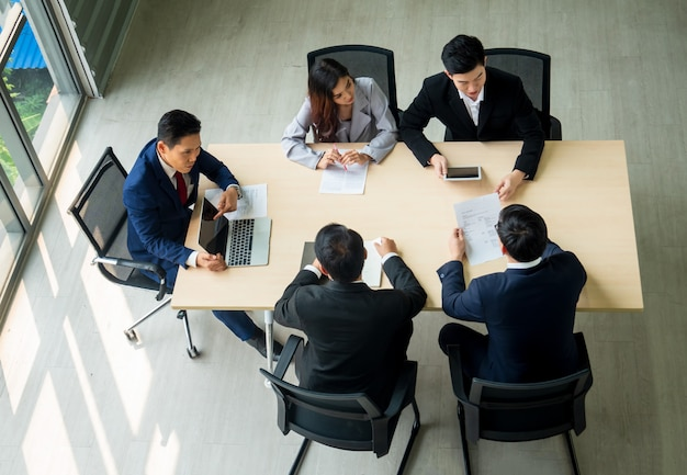 Bedrijfs peeople vergadering in bureau