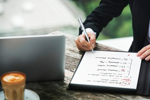Bedrijfsanalyse strategie planning succes concept