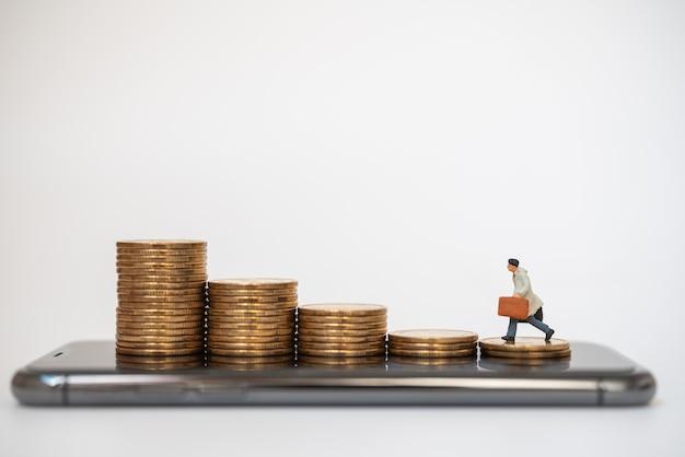 Bedrijfsconcept financieel, geld en technologie
