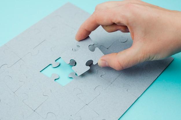 Bedrijfsconcept met puzzel