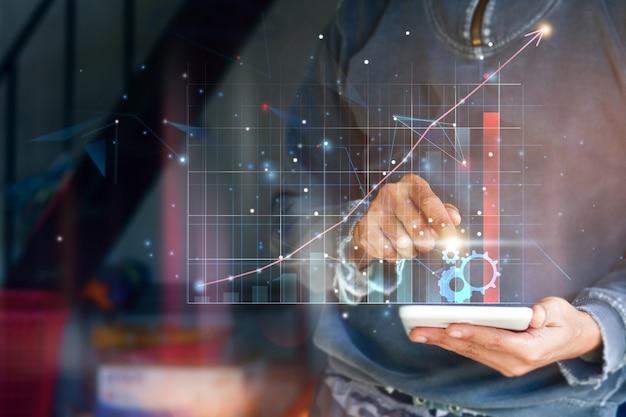 Bedrijfsfinanciëntechnologie en investeringsconcept.
