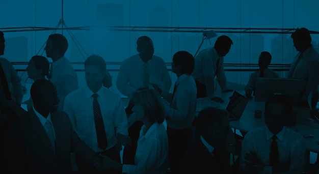 Bedrijfsmensen communicatie collega's die concept werken