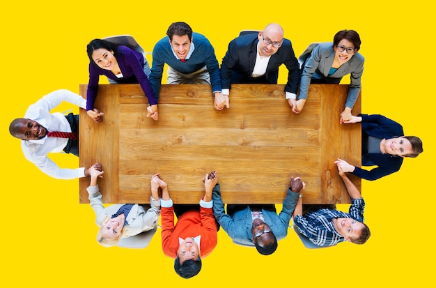 Bedrijfsmensen team connection togetherness concept