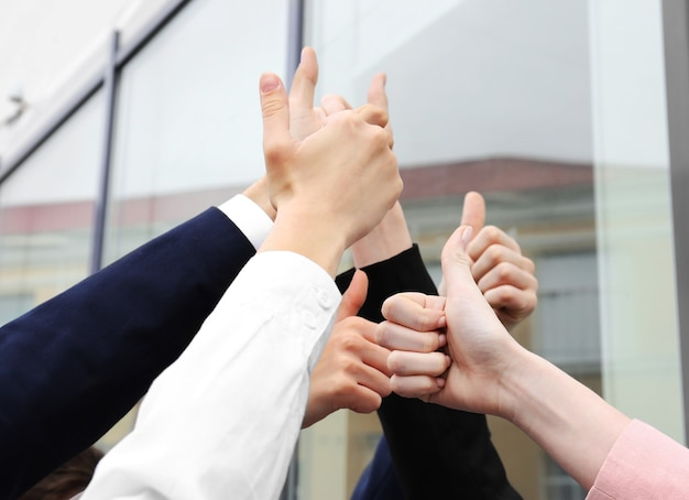 Bedrijfsmensenhanden. teamwerk concept