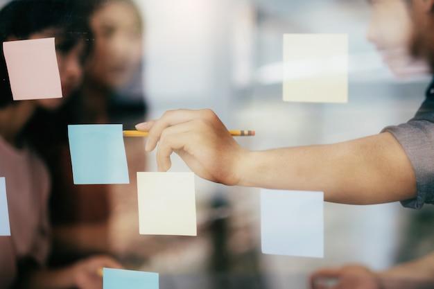 Bedrijfsplanning en brainstormen.