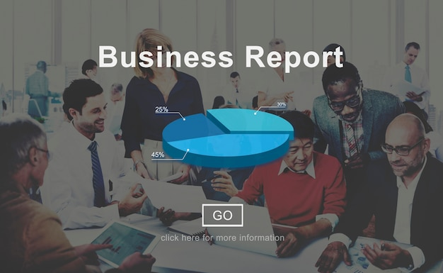 Bedrijfsrapport analyse analyse statistieken concept
