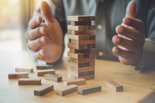 Bedrijfsrisico's concept