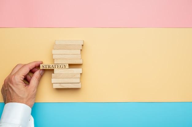 Bedrijfsvisie en strategie concept