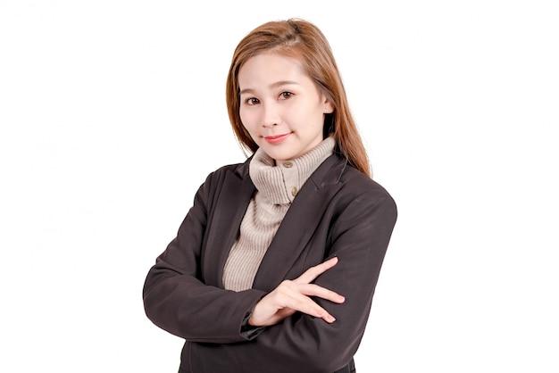 Bedrijfsvrouw op isolate