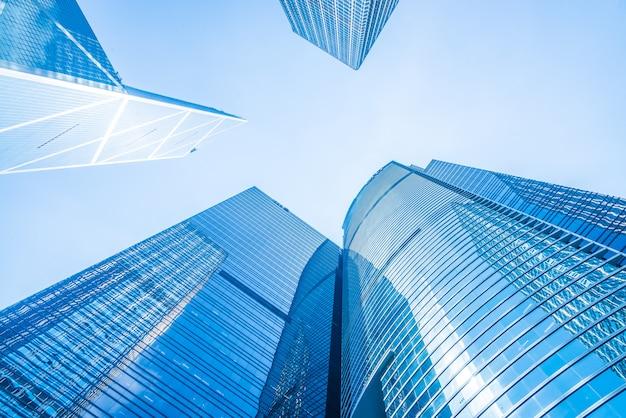 Bedrijfswolkenkrabbergebouw in de stad van hongkong