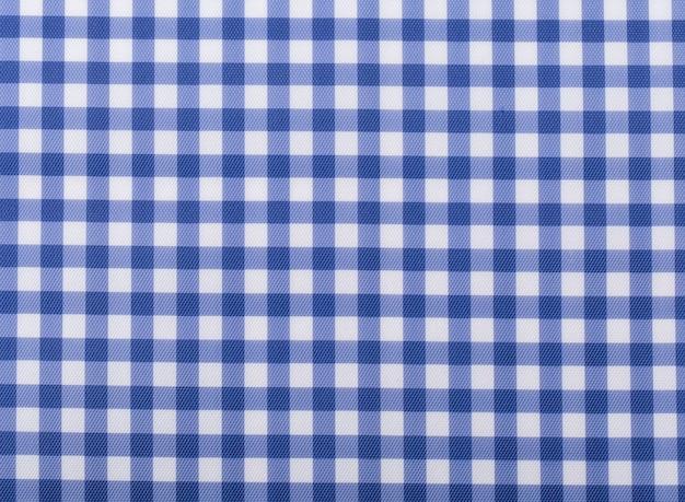 Bedrukte stof. plaid materiële stof textuur vierkant blauw.